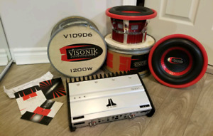 Visonik Car Stereo, Sub & JL Audio Amp Package
