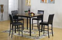 BRAND NEW MARBLE TOP AND METAL PUB TABLE SET - SALE 30% OFF