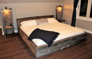 Custom KING Size Hand Crafted Headboard and Bed Frame Loft Style