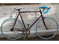 Single speed bike PEUGEOT frame 23inch built BY US NEW TYRES, DICTA 18T, CHAIN, BAR, TAPE - WARRANTY