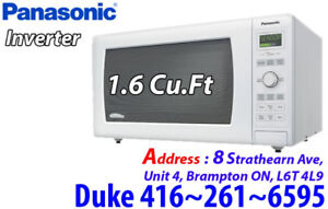 *  White Panasonic 1.6 Cu.Ft Microwave NNSD767W