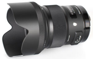 NIKON mount SIGMA 50mm f1.4 DG HSM ART lens