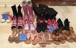 Girls (youth)  Shoes - Size 8,10,11 - 15 pairs total