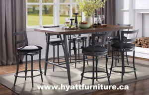 New 7 pcs Elegant Pub Dining Set only $698 - We deliver in GTA