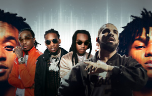 2 General Floor Tickets Drake and Migos Concert AUG 21