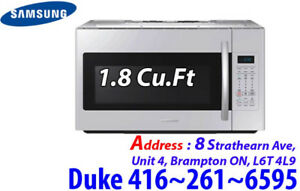 Over-The-Range Samsung 1.8 Cu.Ft Microwave 400CFM ME18H704SFW