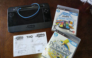 PS3 UDRAW GAME TABLET & 2 GAMES