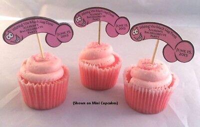 PERSONALIZED BACHELORETTE PARTY PECKER CUPCAKE - Bachelorette Party Cupcakes