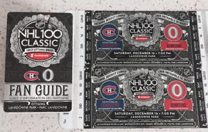 GREAT SEATS! - NHL 100 Outdoor Classic - HABS vs SENS