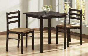 NEW ★ Solid Wood ★ 3 Piece Dinette ★ Can Deliver ★ NO TAX