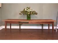 Antique french farmhouse refectory dining table
