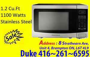 Counter top Microwave 1.2 Cu.Ft Stainless Steel