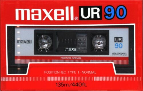 "Maxell Ur-90 ""Single"" Normal Bias Audio Cassette [New ]"