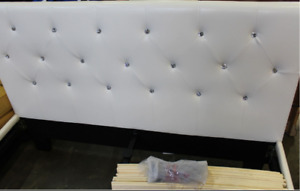 Brand New queen size leather bed frame