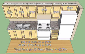 12 Feet Kitchen - $1050 - 10x10 L Shape $1497 Unbeatable Price