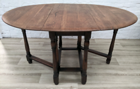 Vintage Oak Gate Leg Dining Table (DELIVERY AVAILABLE)