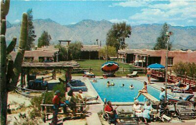 Ranch Lodge (Barra Nada Ranch Lodge Phoenix Arizona roadside 1950s Postcard Petley pool 5603)