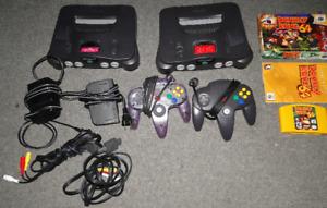 Nintendo 64 jeux et console avec xpack