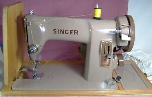 RARE BROWN SINGER 185K ALL METAL SEWING MACHINE STRONG