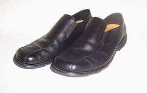 Mens SIZE 14 Black Leather Shoes / Loafers