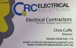 ELECTRICIAN-  CRC Electrical Solutions Gold Coast Region Preview