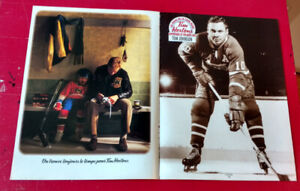 1997 TIM HORTONS AD WITH HOCKEY HABS SUPERSTAR TOM JOHNSON