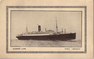 CUNARD LINE R.M.S. ASCANIA POST CARD Voyage No. 61 (West)