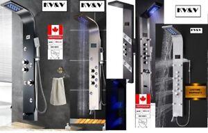 KV&V-Neon Rain 7019 B-LED Shower Panel Tower Column System