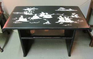 Oriental Coffee Table - black with Mother of Pearl
