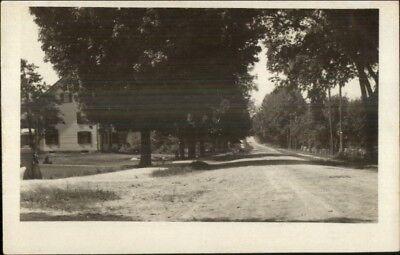 Corinna ME Written on Back - Road Scene c1910 Real Photo Postcard