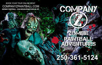 Company Z Paintball Adventures: Zombie Hunters Wanted!