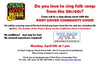 Sing Folk Songs of the 50s/60s with the PDCC