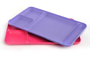 Tupperware Divided Dining Trays - Picnic Trays - Set of 2 - Free Shippng