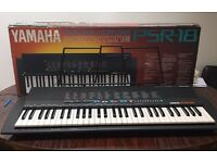 Yamaha PSR 18 musical keyboard excellent condition