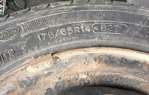 """14"""" Steel Wheels 4x100 5.5Jx14 With Tires 175/65R14 Stratford Kitchener Area image 3"""