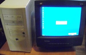 Computer and CRT Monitor