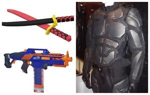 Looking for nerf guns, foam swords, and costume armour
