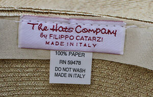 Filippo Catarzi - Floppy Brim Beach Hat - Beige Kitchener / Waterloo Kitchener Area image 3