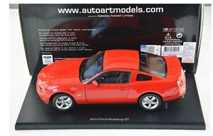 1/18 DIECAST AUTOART 2010 FORD MUSTANG GT RED NEW