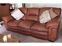 Bargain Leather Sofa,Chair and footstool