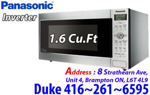 Countertop Panasonic Prestige Microwave 1.6 Cu.Ft Stainless
