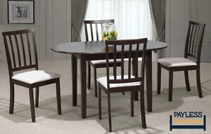 NEW ★ Solid wood Dining set ★ 5 Pcs ★ Can Deliver