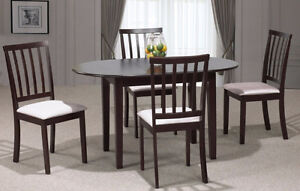 NEW Solid Wood Dining table + 4 chairs ★ NO TAX ★ FREE Delivery