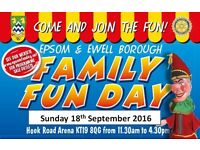 Book a stall at the Epsom and Ewell Family Fun Day!