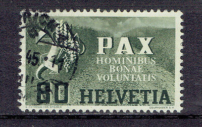 Schweiz o  MiNr 454 geprüft PAX-Einzelwert Waffenstillstand 1945