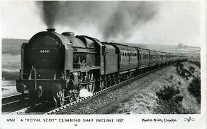 Pamlin-repro-photo-postcard-M563-LMS-Royal-Scot-6133-The-Green-Howards-Shap-1937