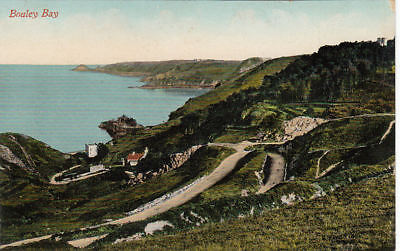 VINTAGE VALENTINE'S POSTCARD OF BOULEY BAY JERSEY UNPOSTED.
