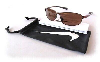 NEW NIKE TOUR EV0744 220 Metal Walnut w/ Max Optics Golf Mens Sunglasses