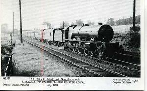 Pamlin-M3521-repro-photo-postcard-LMS-No-6200-PRINCESS-ROYAL-Northchurch-1934