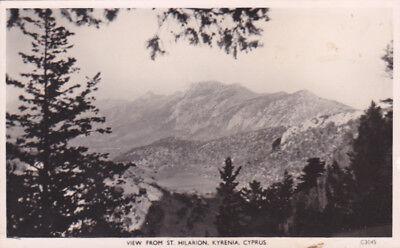 CYPRUS POSTCARD VIEW FROM SAINT HILARION KYRENIA SOTERIOU C 1950